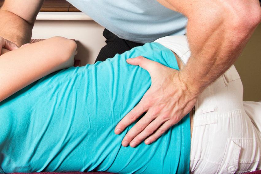 Lumbar chiropractic adjustment