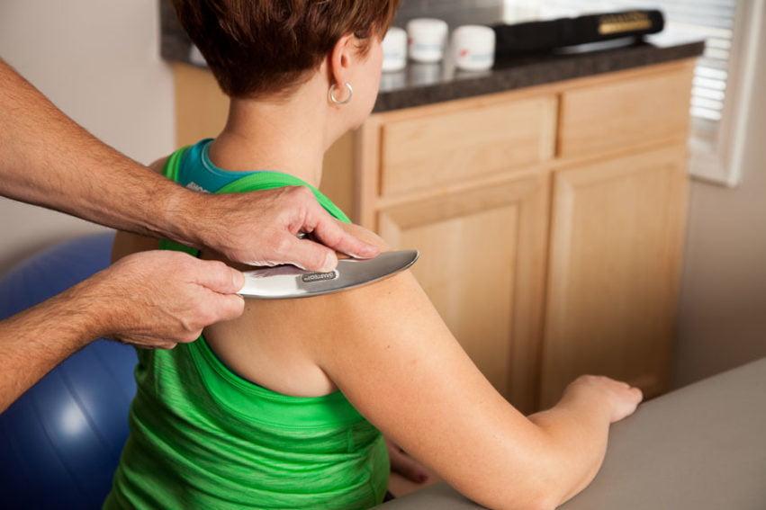 Graston Technique on shoulder