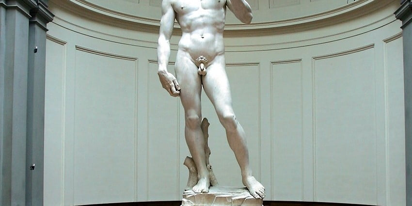 Michelangelo's David and his cracked ankles
